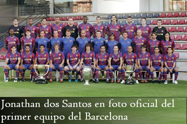 Jonathan dos Santos en foto oficia del Barcelona